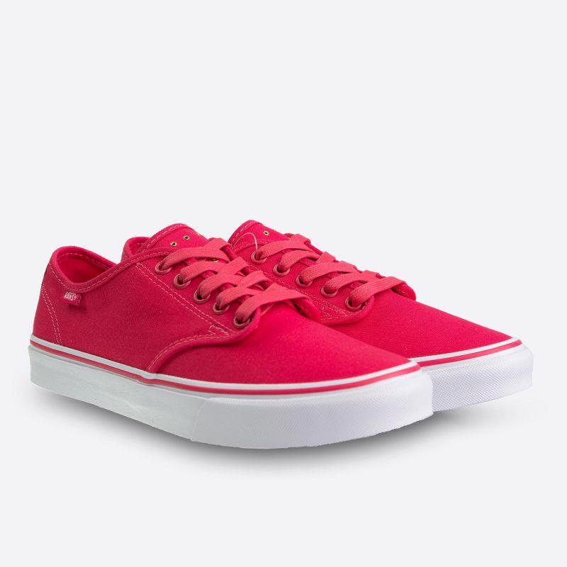 c2e0832a66f Růžové dámské plátěné tenisky Vans Camden Stripe Micro Eyelets Azalea