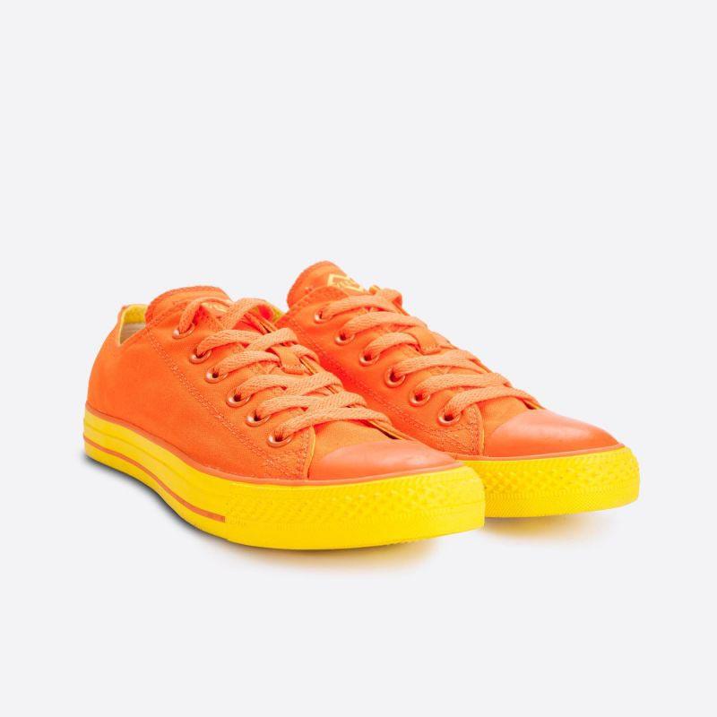 Oranžové plátěné tenisky Veemes Orange And Yellow se žlutou podrážkou a6bd7e4f486