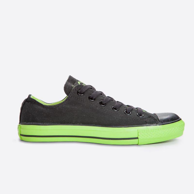 e32607e1ddf Černé plátěné tenisky Veemes Black And Green